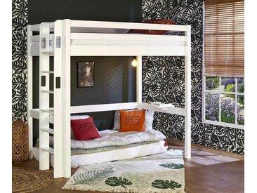 Lit mezzanine ado Fynn  Blanc 90x190 cm