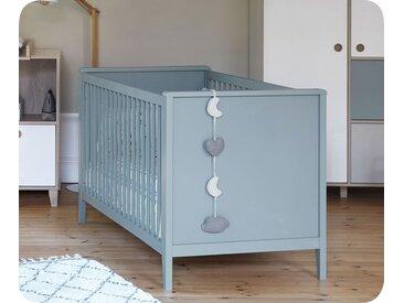 Lit bébé évolutif avec matelas Aqua  Bleu 70x140 cm/Opt:Sans kit évolutif