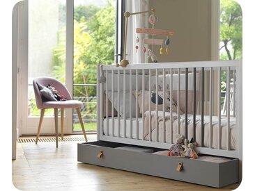 Lit bébé évolutif Cocoon  Gris clair et gris foncé 70x140 cm/Opt:Sans kit évolutif