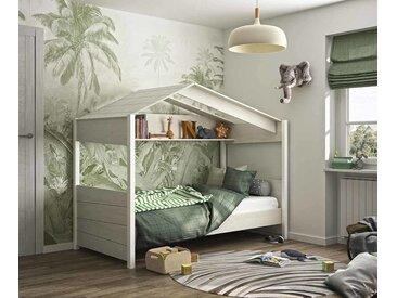 Lit cabane enfant Popi  Naturel blanchi 90x200 cm