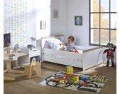 Lit enfant évolutif Jaïpur  Blanc et bois 90x140 à 90x190 cm