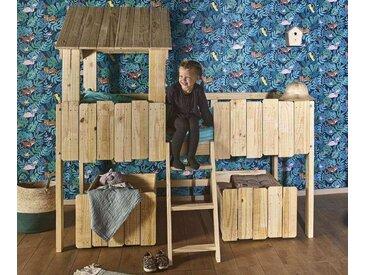 Lit enfant cabane Swam  Brut à peindre 90x190 cm