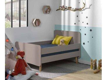 Lit enfant évolutif avec pieds Willow  Lin 90x140 à 90x190 cm/Opt:Avec barrières de lit