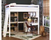Lit mezzanine ado 2 places Fynn  Blanc 140x190 cm