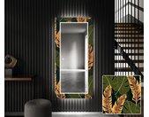 Miroir décoratif avec éclairage LED pour l'entrée - Botanical Flowers