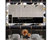 Miroir décoratif avec éclairage LED pour la salle à manger - Marble Pattern