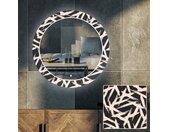 Miroir décoratif rond avec rétroéclairage LED pour le salon - Lines