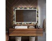 Miroir décoratif rétroéclairé pour la salle de bains - Goldy Palm
