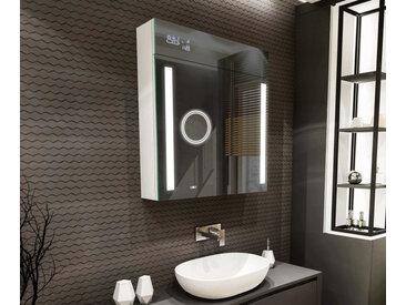 Armoire de toilette à miroir lumineux L02 Blanc Alpin