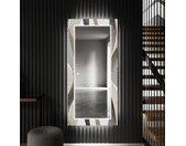 Miroir décoratif avec éclairage LED pour l'entrée - Waves
