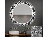 Miroir décoratif rond avec éclairage LED pour la salle de bain - Letters