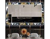 Miroir décoratif avec éclairage LED pour la salle à manger - Colorful Leaves