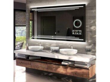 Illumination LED miroir sur mesure eclairage salle de bain L75