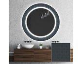 Miroir décoratif rond avec éclairage LED pour la salle de bain - Elegant
