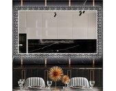 Miroir décoratif rétroéclairé LED pour la salle à manger - Black and white mosaic