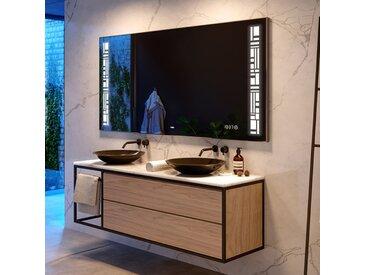 Illumination LED miroir sur mesure eclairage salle de bain L40
