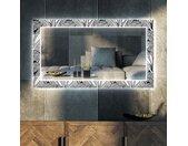 Miroir décoratif avec rétroéclairage LED pour le salon - Black and white jungle