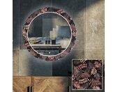 Miroir décoratif rond avec rétroéclairage LED pour le salon - Jungle