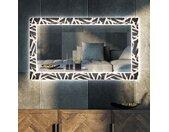 Miroir décoratif avec rétroéclairage LED pour le salon - Lines