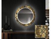 Miroir décoratif rond avec éclairage LED pour l'entrée - Ancient Pattern
