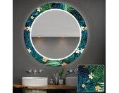 Miroir décoratif rond avec éclairage LED pour la salle de bain - Tropical