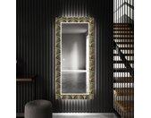 Miroir décoratif avec éclairage LED pour l'entrée - Art Deco