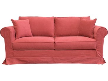 Housse pour canapé 3 places en tissu rouge - Crowson