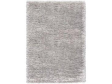 Tapis à poils longs gris clair 200x290cm - Céleste