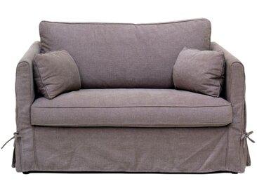 Housse pour canapé 2 places en tissu marron - Mini Welsh