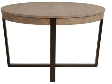 Table ronde extensible en bois et acier - Demeure