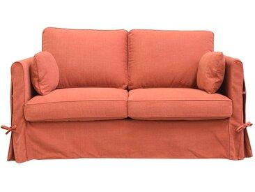 Housse pour canapé 2 places en tissu terre de sienne - Welsh