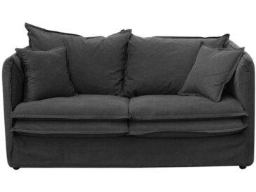 Housse pour canapé 3 places en tissu gris anthracite - Hampton