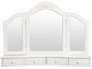 Miroir coiffeuse en bois blanc - Romance