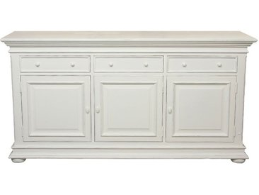Buffet bas blanc 3 portes 3 tiroirs - Harmonie