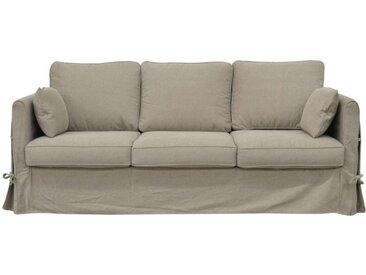 Housse pour canapé 4 places en tissu naturel - Welsh