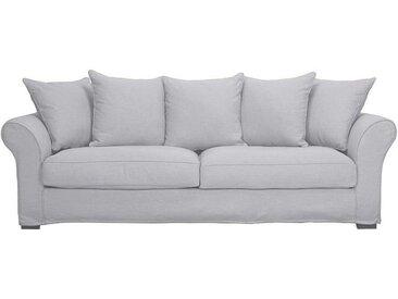 Housse pour canapé 4 places gris en tissu - Melbourne
