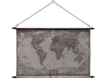 Toile décorative en coton mappemonde