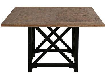 Table carrée noire en épicéa massif 6 à 8 personnes - Vénitiennes