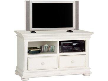 Meuble TV blanc en bois avec rangements - Harmonie