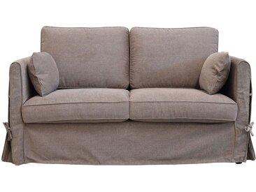 Housse pour canapé 2 places en tissu couleur chanvre - Welsh