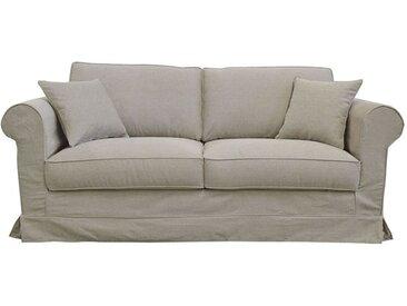 Housse pour canapé 3 places en tissu beige - Crowson