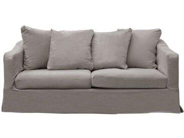 Housse pour canapé convertible 3 places en tissu gris perle - Cleveland