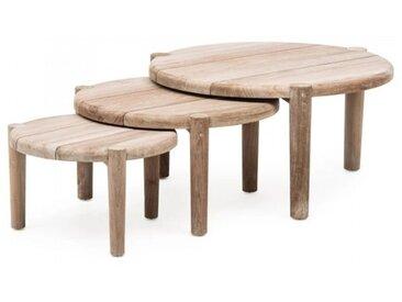 Set de 3 tables basses de jardin Floor - Gommaire | Tentation