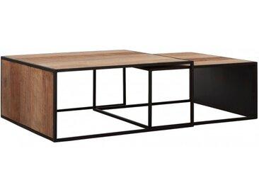 Table basse Cosmo carrée en teck et fer - DTP Home | Tentation