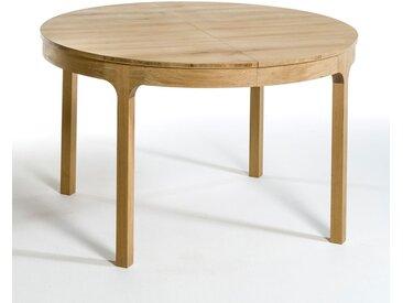 Table ronde Ø120 cm à allonge, Amalrik AM.PM Chêne Naturel
