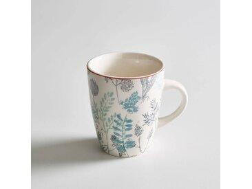 Lot 4 mugs motif herbier, ERBAL LA REDOUTE INTERIEURS Imprimé