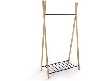 Portant Yaka, bambou et métal LA REDOUTE INTERIEURS Noir/Bois