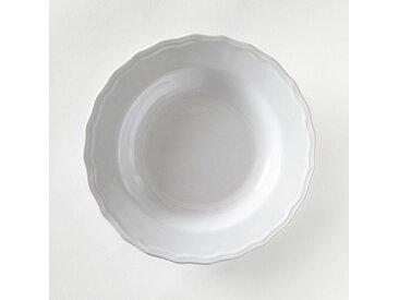 Lot 4 assiettes creuses festonnées, AJILA LA REDOUTE INTERIEURS Blanc