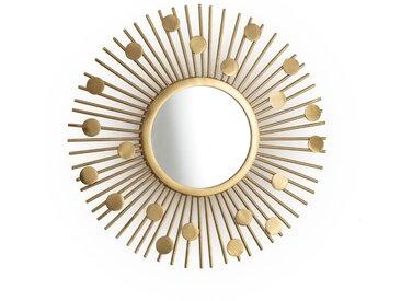 Miroir vintage SOLEIL LA REDOUTE INTERIEURS Laiton