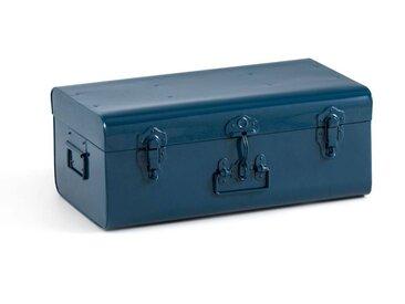 Cantine malle en métal, Masa LA REDOUTE INTERIEURS Bleu De Prusse